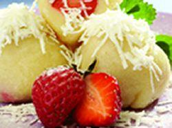 Recept: Ovocné knedlíčky z bramborovo-tvarohového těsta