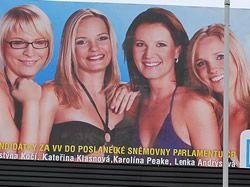 """""""Kluky pusťte k vodě, volte nás,"""" lákají političky v plavkách na billboardech"""