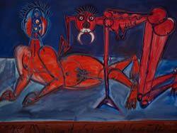 V žáru lásky, Zelený sex a další obrazy Jiřího Načeradského v Mánesu
