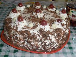 Recept: Čokoládovo-višňový dort se šlehačkou