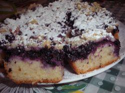 Recept: Borůvkový koláč s tvarohem