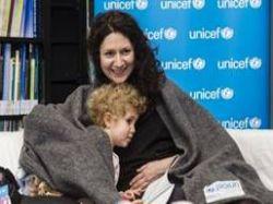 Here�ka Martha Issov� podpo�ila programy UNICEF na pomoc syrsk�m d�tem