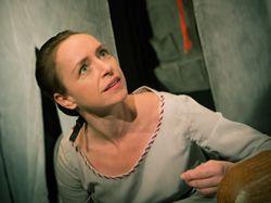 Tatiana Vilhelmová jako uhrančivá Božena Němcová v  divadle Viola