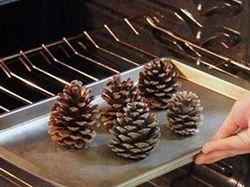 Vánoční dekorace - vonné borovicové šišky